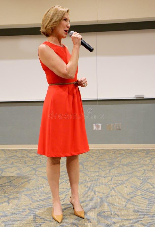 Candidato presidencial Carly Fiorina fotos de stock royalty free