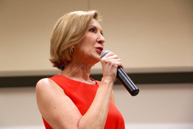 Candidato presidencial Carly Fiorina imagem de stock royalty free