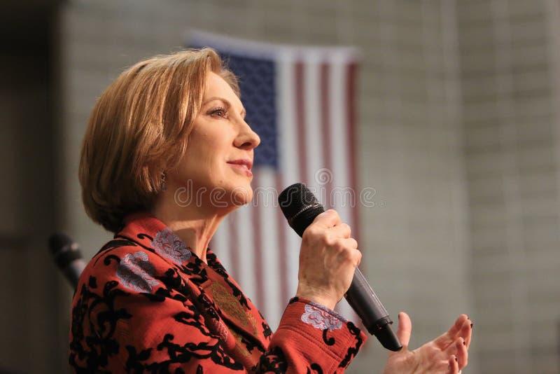 Candidato presidencial Carly Fiorina imagens de stock