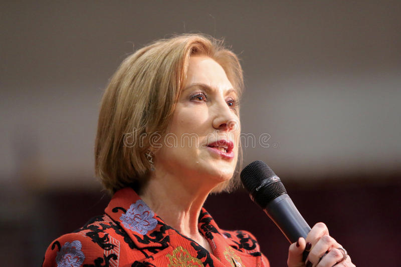 Candidato presidencial Carly Fiorina imagens de stock royalty free
