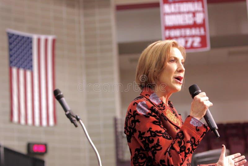 Candidato presidencial Carly Fiorina fotos de stock