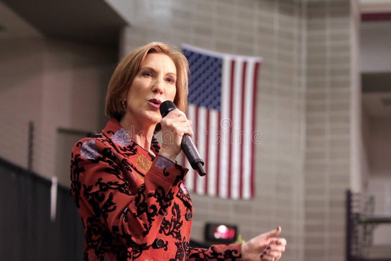 Candidato presidencial Carly Fiorina foto de stock