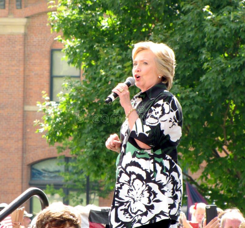 2016 candidato presidencial Democratic, Hillary Clinton foto de archivo