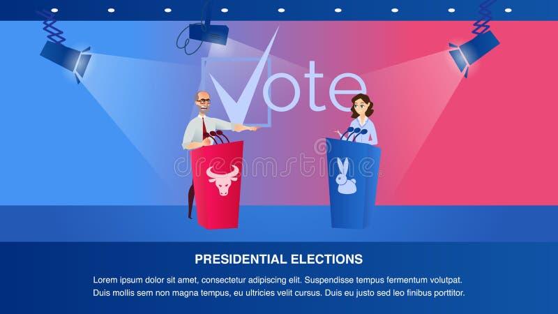 Candidato presidencial do debate dois da ilustração ilustração stock