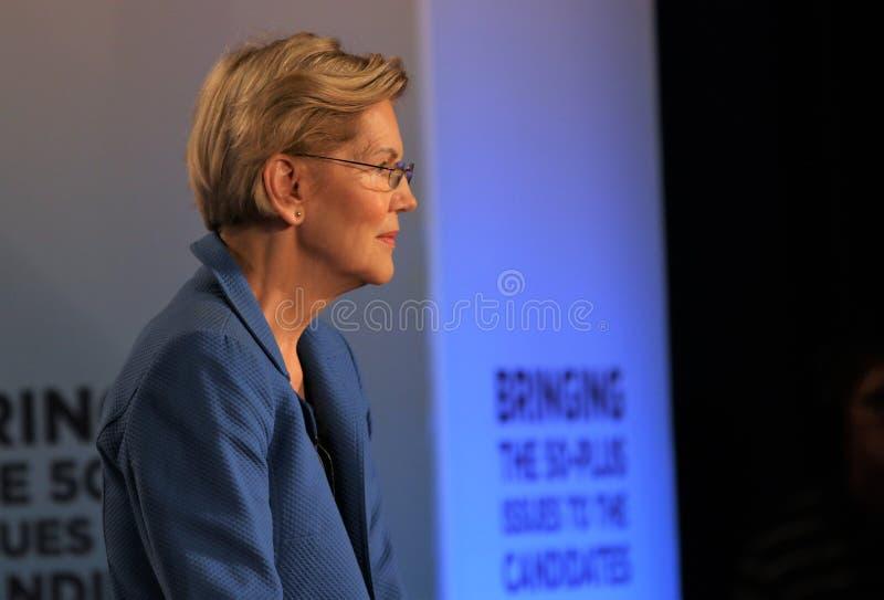 Candidato presidencial Elizabeth Warren fotos de stock