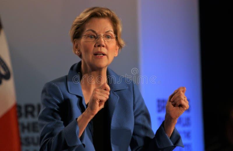 Candidato presidencial Elizabeth Warren fotografia de stock royalty free