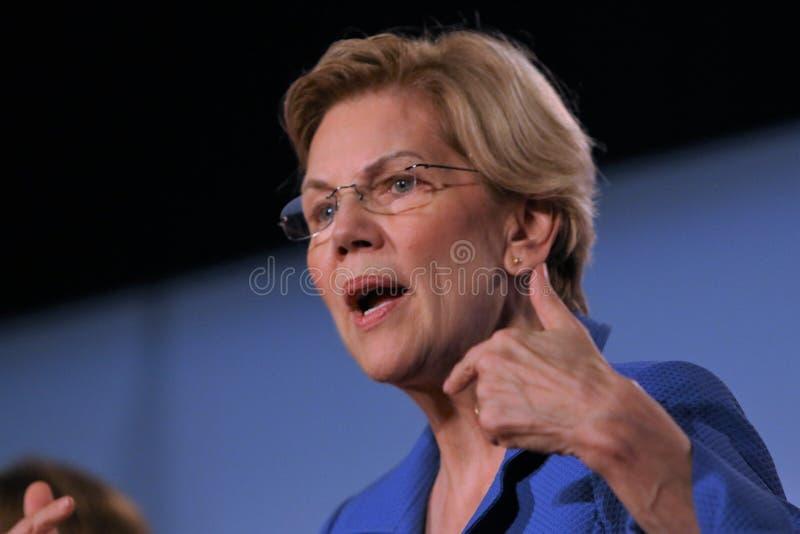 Candidato presidencial Elizabeth Warren imagens de stock royalty free