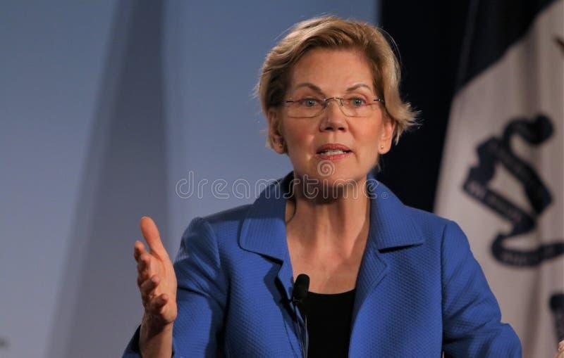Candidato presidencial Elizabeth Warren foto de stock