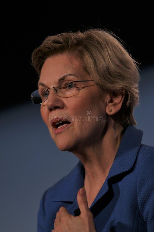 Candidato presidencial Elizabeth Warren imagem de stock