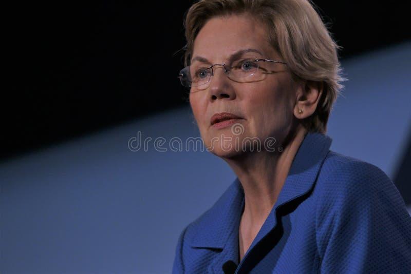 Candidato presidencial Elizabeth Warren fotografia de stock
