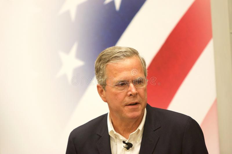 Candidato presidencial Jeb Bush imagem de stock royalty free