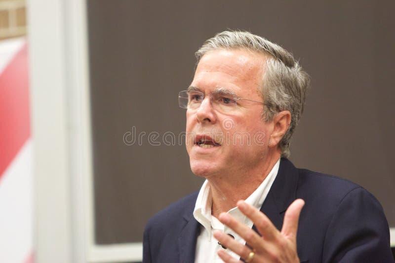 Candidato presidencial Jeb Bush imagem de stock