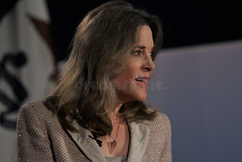 Candidato presidencial Marianne Williamson imagen de archivo