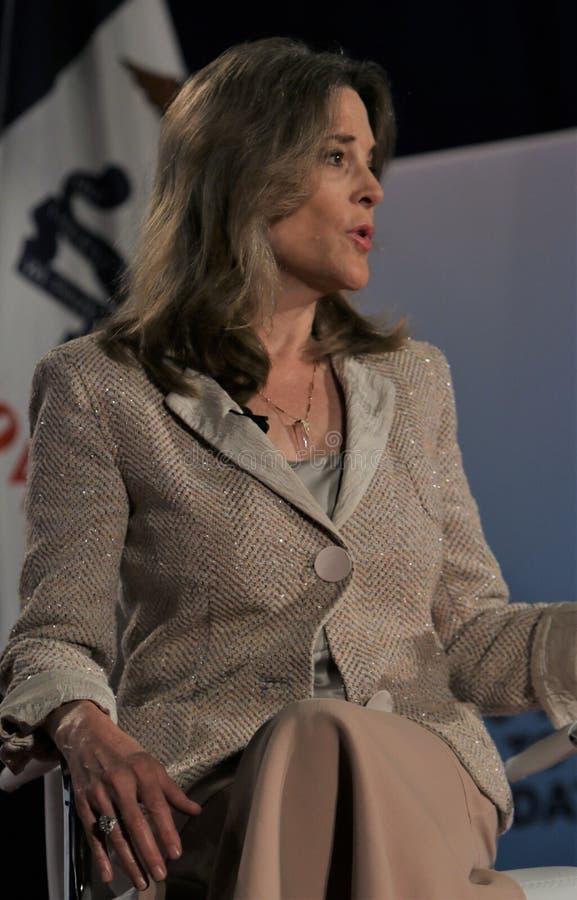 Candidato presidencial Marianne Williamson foto de stock royalty free
