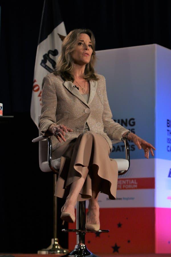 Candidato presidencial Marianne Williamson imagem de stock royalty free