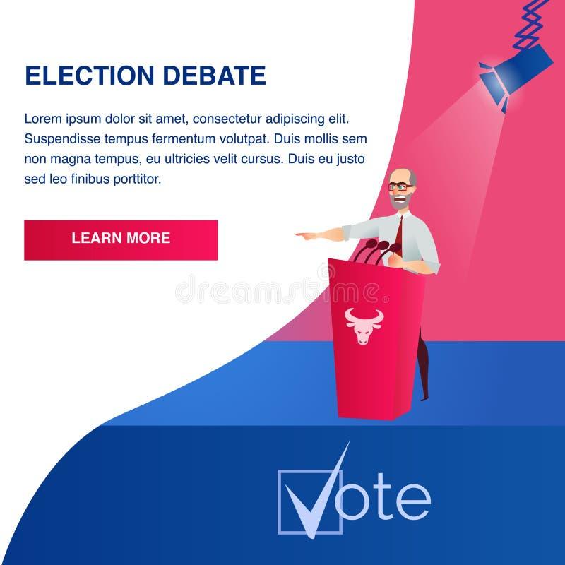 Candidato presidencial potencial da ilustração lisa ilustração do vetor