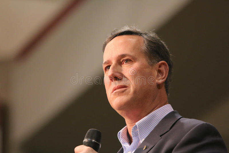 Candidato presidencial Rick Santorum imagens de stock