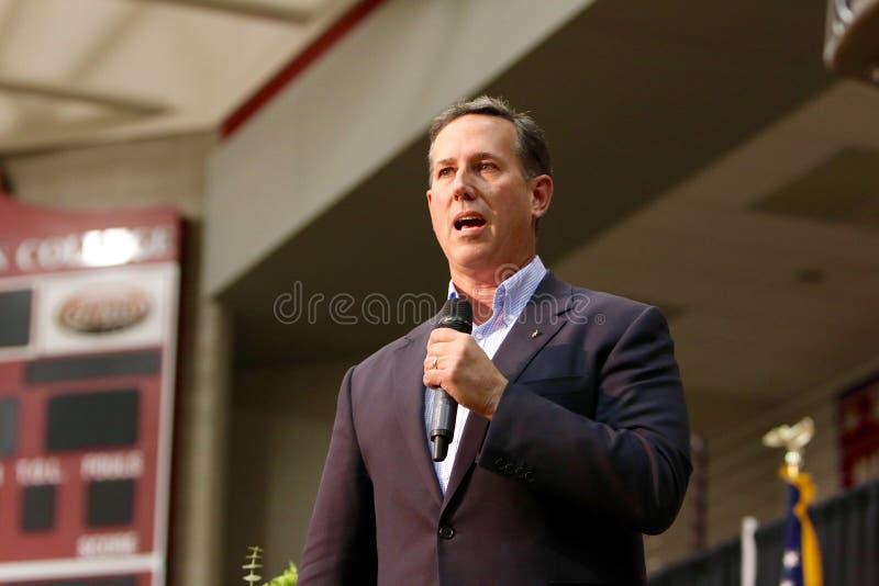 Candidato presidencial Rick Santorum foto de stock