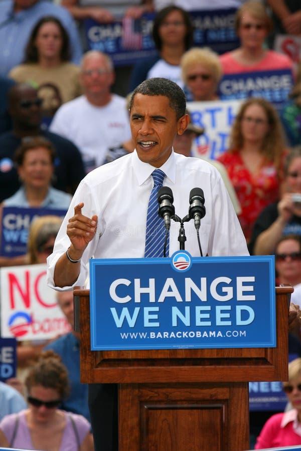 Candidato presidenziale, Barack Obama fotografie stock
