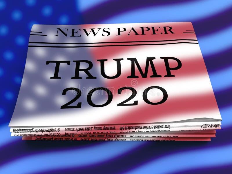 Candidato republicano do trunfo 2020 para a nomeação presidencial - ilustração 3d ilustração do vetor