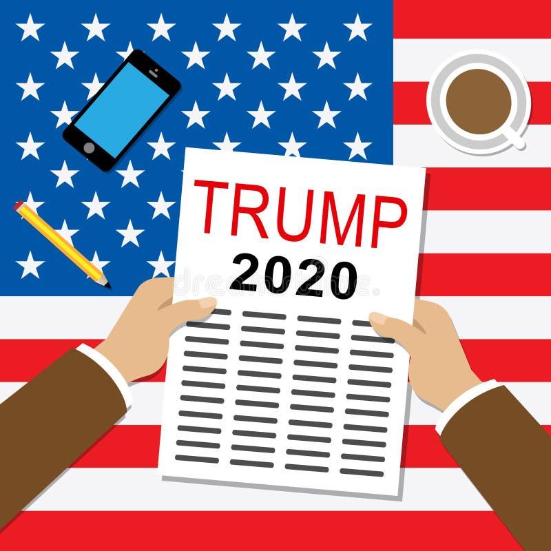 Candidato republicano do trunfo 2020 para o presidente Nomination - 2d ilustração ilustração do vetor