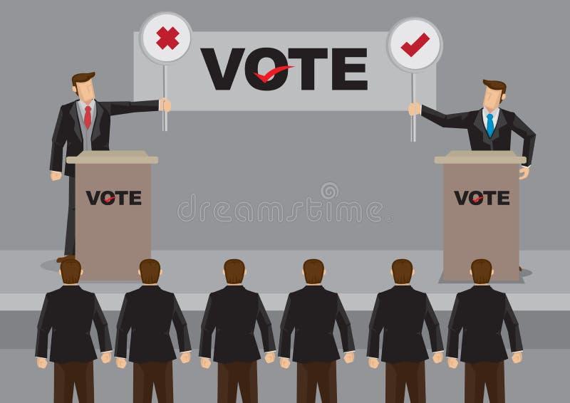 Candidatos no debate para a ilustração do vetor da eleição ilustração royalty free