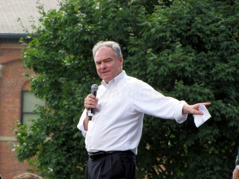 2016 candidatos vice-presidenciais Democráticas, Tim Kaine imagens de stock