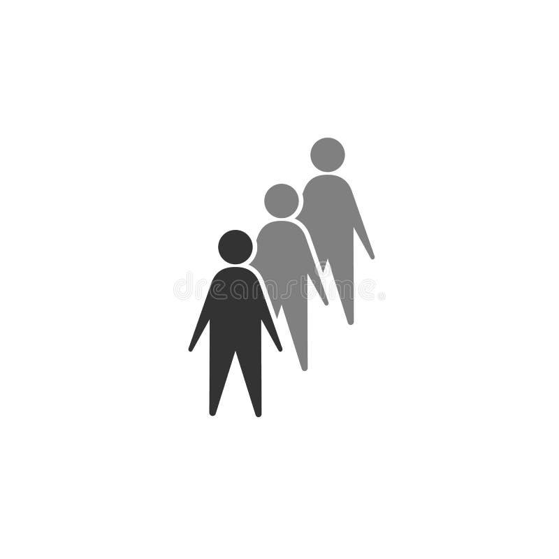 candidats, icône de groupe Élément d'icône de commercialisation pour des applis mobiles de concept et de Web Des candidats affect illustration de vecteur