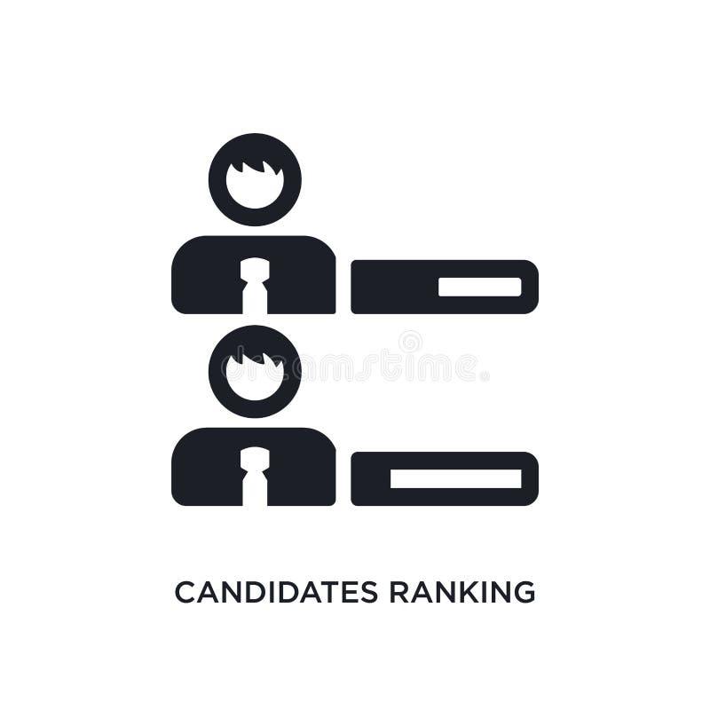 candidats rangeant l'icône d'isolement graphique illustration simple d'élément des icônes politiques de concept candidats rangean illustration stock