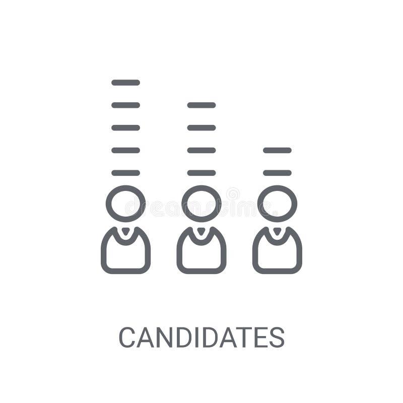Candidats rangeant l'icône graphique Candidats à la mode rangeant le graphique illustration de vecteur