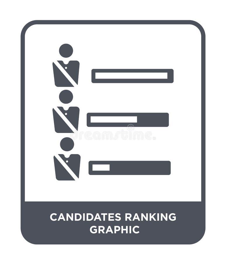 candidats rangeant l'icône graphique dans le style à la mode de conception candidats rangeant l'icône graphique d'isolement sur l illustration libre de droits
