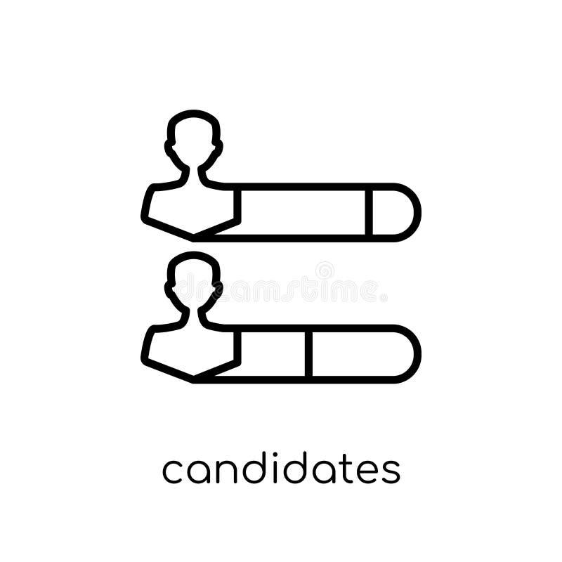 Candidats rangeant l'icône graphique de la collection politique illustration de vecteur