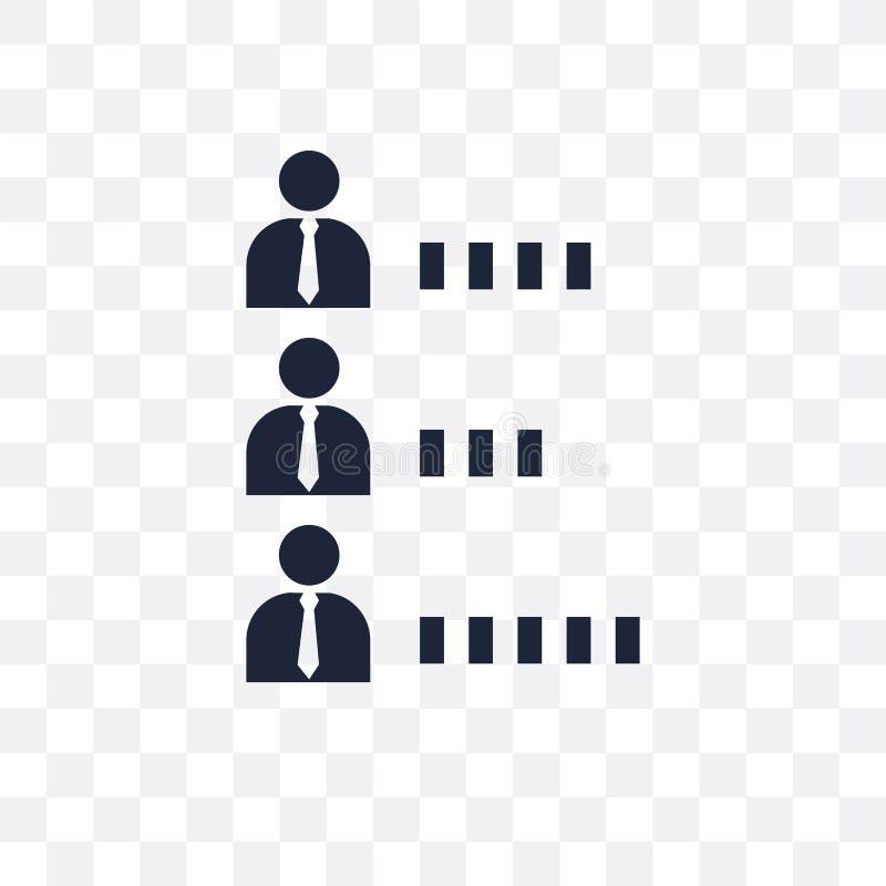 Candidats rangeant l'icône transparente graphique Rang de candidats illustration libre de droits