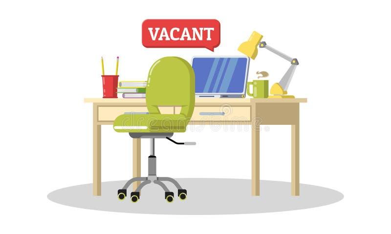 Candidats recruteurs pour le travail de bureau Le talent, professionnels a voulu, nous louent le concept illustration de vecteur