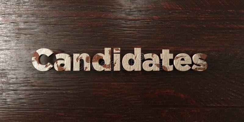 Candidats - titre en bois sale sur l'érable - image courante gratuite de redevance rendue par 3D illustration libre de droits