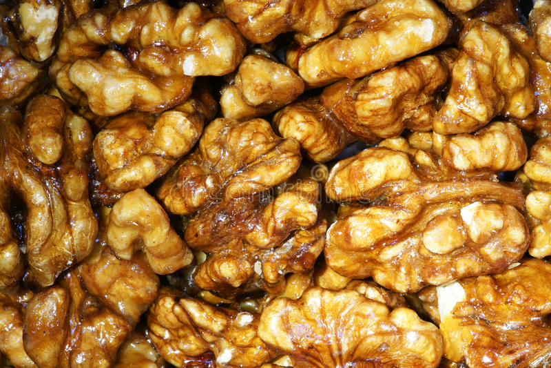 candied грецкий орех стерженей стоковая фотография
