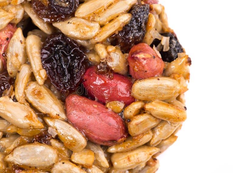 Candied зажаренные в духовке семена подсолнуха арахисов стоковое фото