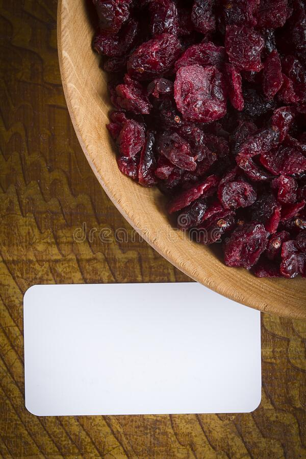 Candied dried cranberries royalty free stock image