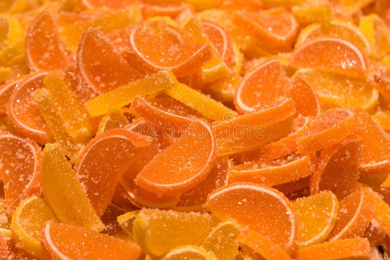 Candied fruit jelly stock photo