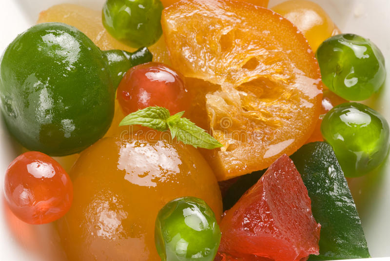 candied fruktplatta arkivfoto