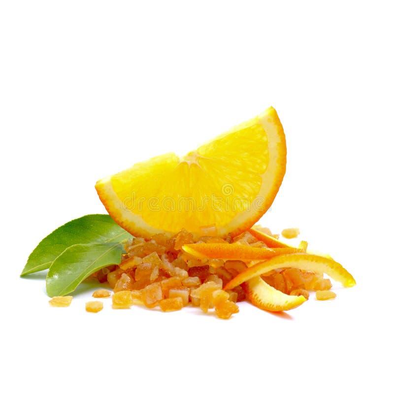 candied orange peel royaltyfria foton