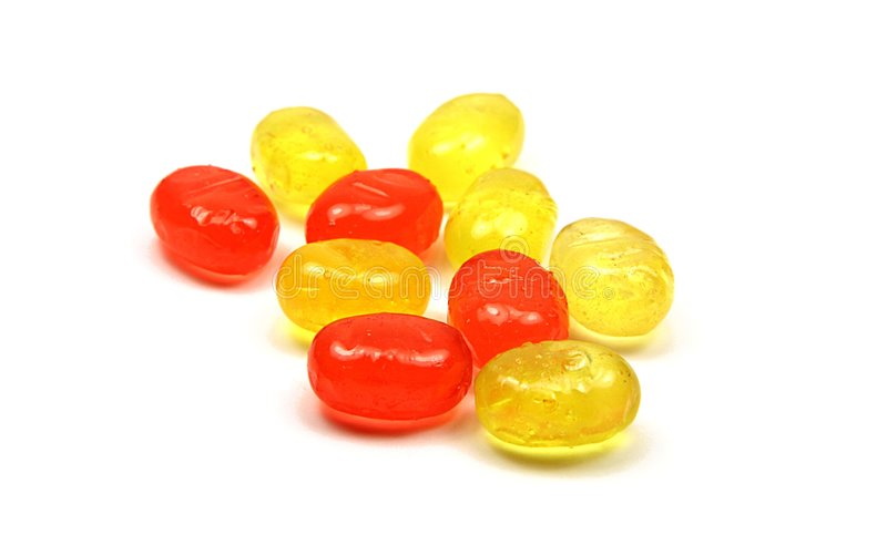 Candies. Strawberry and lemon candies royalty free stock photos