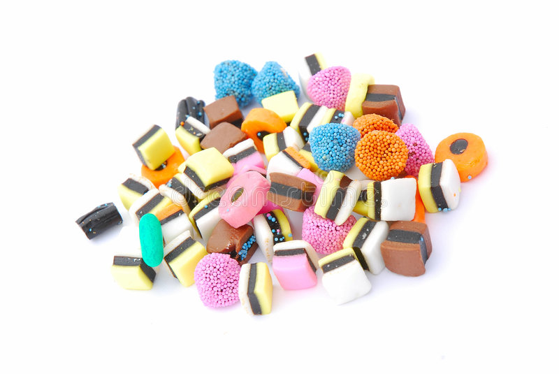 Candies colorful stock photo