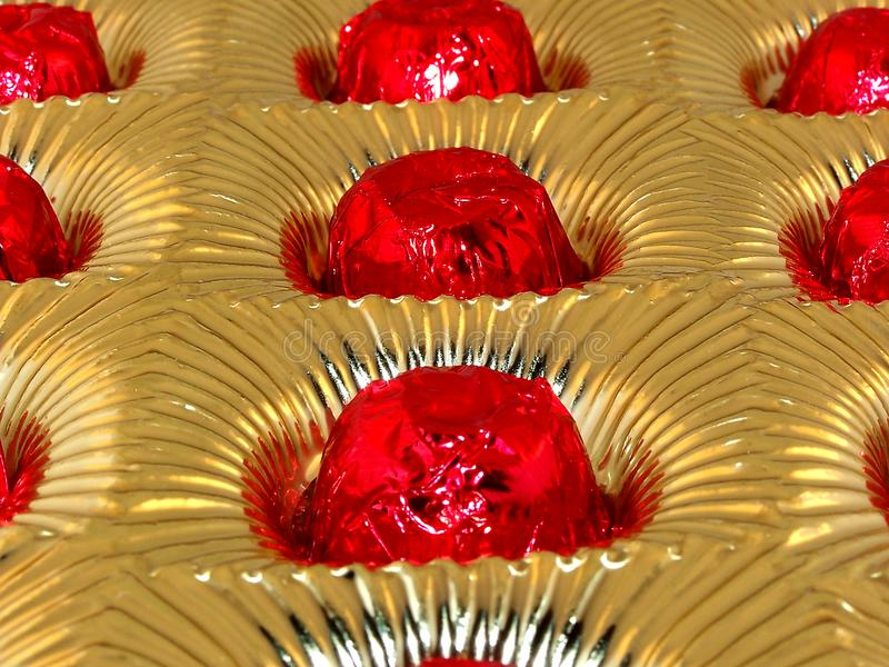 Candies In Foil Tray Stock Photos