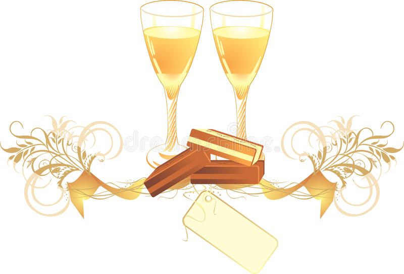 Download Candies And Glasses With Champagne Stock Vector - Image: 12072785