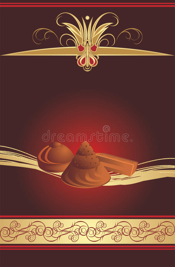 Candies On The Gothic Background. Wrapping Stock Photos