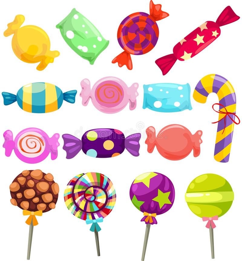 Download Candies set stock vector. Image of candy, circle, cute - 24254448