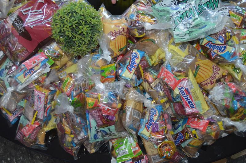 Candies and sweets stock image