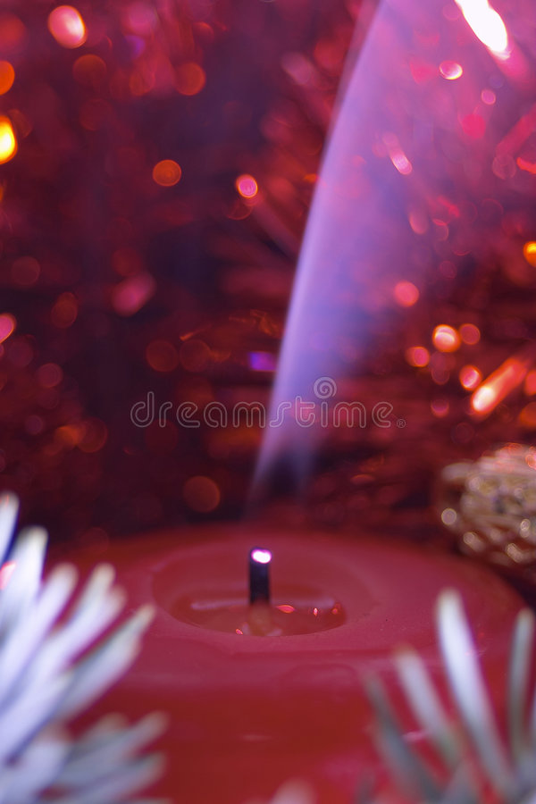 Download Candle stock image. Image of christmas, petals, pine, tree - 105015