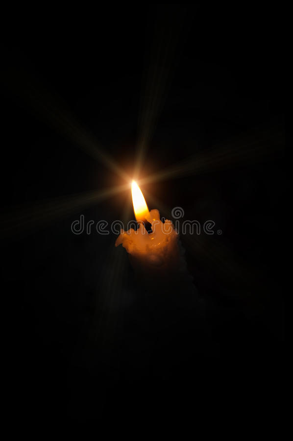 Download A candle stock image. Image of glowing, symbol, beeswax - 12561123